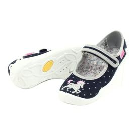 Befado obuwie dziecięce 114X414 granatowe szare 4
