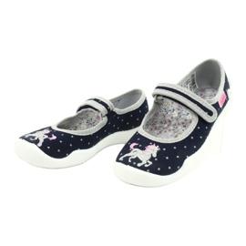 Befado obuwie dziecięce 114X414 granatowe szare 3