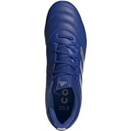 Buty piłkarskie adidas Copa 20.3 Fg M EH1500 niebieski, srebrny niebieskie 1