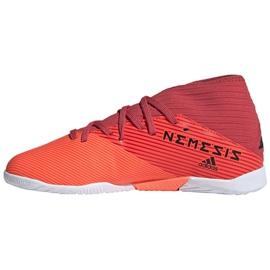 Buty piłkarskie adidas Nemeziz 19.3 In Jr EH0495 wielokolorowe czerwone 2
