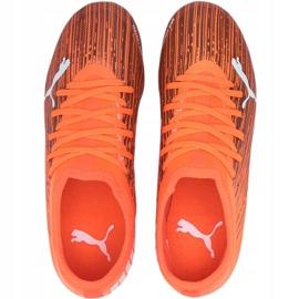 Buty piłkarskie Puma Ultra 3.1 Fg Ag Jr 106098 01 wielokolorowy, pomarańczowy pomarańczowe 1
