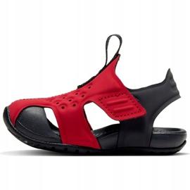 Sandały dla dla dzieci Nike Sunray Protect 2 czerwone 943827 603 czarne 1
