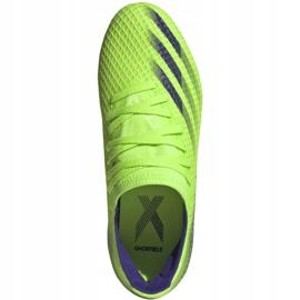 Buty piłkarskie adidas X Ghosted.3 Fg Jr EG8212 zielone zielone 1