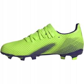 Buty piłkarskie adidas X Ghosted.3 Fg Jr EG8212 zielone zielone 2