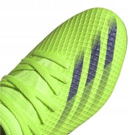 Buty piłkarskie adidas X Ghosted.3 Fg Jr EG8212 zielone zielone 3