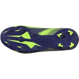 Buty piłkarskie adidas X Ghosted.3 Fg Jr EG8212 zielone zielone 4