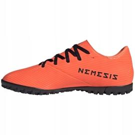 Buty piłkarskie adidas Nemeziz 19.4 Tf M EH0304 pomarańczowe wielokolorowe 2