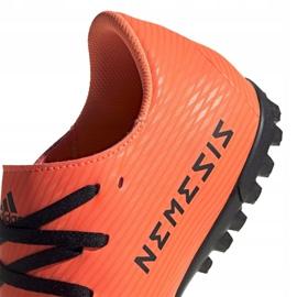 Buty piłkarskie adidas Nemeziz 19.4 Tf M EH0304 pomarańczowe wielokolorowe 4