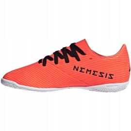 Buty piłkarskie adidas Nemeziz 19.4 In Jr EH0506 pomarańczowe wielokolorowe 2