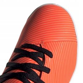 Buty piłkarskie adidas Nemeziz 19.4 In Jr EH0506 pomarańczowe wielokolorowe 3