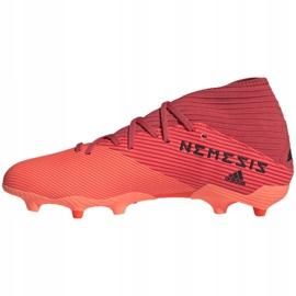 Buty piłkarskie adidas Nemeziz 19.3 Fg M EH0300 pomarańczowe wielokolorowe 2