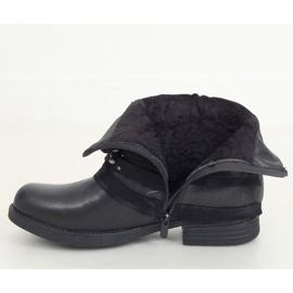 Botki damskie czarne BZ66016-KB Black 2