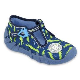 Befado obuwie dziecięce 110P410 granatowe zielone 1