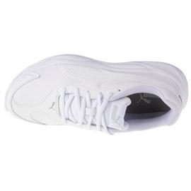 Buty Puma 90S Runner Sl Jr 372929 01 białe granatowe 2