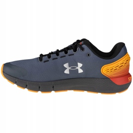 Buty Under Armour Charged Rogue 2 Storm M 3023371-100 pomarańczowe szare 1