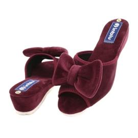 Befado Inblu obuwie damskie  155D119 czerwone 4