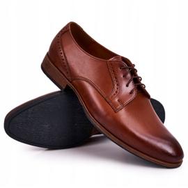 Bednarek Polish Shoes Męskie Skórzane Półbuty Z Jasną Podeszwą Bednarek Jasny Brąz brązowe 8