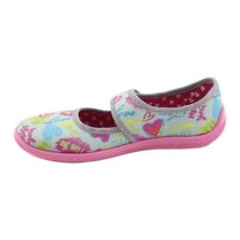Befado  obuwie dziecięce 945X430 różowe szare wielokolorowe 2
