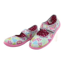 Befado  obuwie dziecięce 945X430 różowe szare wielokolorowe 3