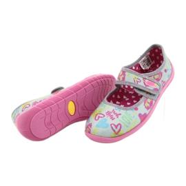 Befado  obuwie dziecięce 945X430 różowe szare wielokolorowe 4