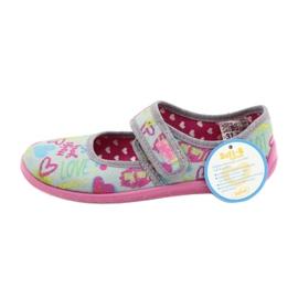 Befado  obuwie dziecięce 945X430 różowe szare wielokolorowe 5
