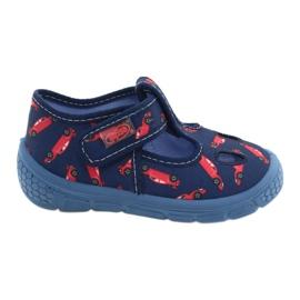 Befado  obuwie dziecięce  533P012 czerwone granatowe niebieskie 1