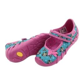 Befado obuwie dziecięce 109P207 niebieskie różowe wielokolorowe 4