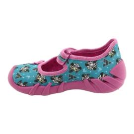 Befado obuwie dziecięce 109P207 niebieskie różowe wielokolorowe 2