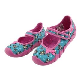Befado obuwie dziecięce 109P207 niebieskie różowe wielokolorowe 3