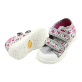 Befado pomarańczowe obuwie dziecięce  212P067 różowe srebrny szare 4