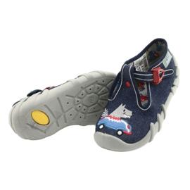 Befado obuwie dziecięce 110P390 czerwone niebieskie 4