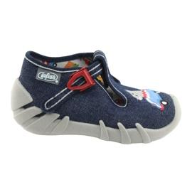 Befado obuwie dziecięce 110P390 czerwone niebieskie 1