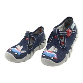 Befado obuwie dziecięce 110P390 czerwone niebieskie 3
