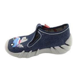 Befado obuwie dziecięce 110P390 czerwone niebieskie 2