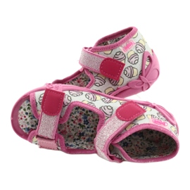 Befado obuwie dziecięce 242P099 różowe szare wielokolorowe 5