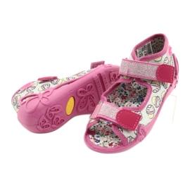 Befado obuwie dziecięce 242P099 różowe szare wielokolorowe 4