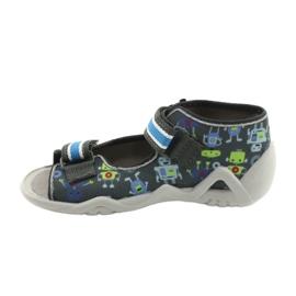 Befado obuwie dziecięce  250P098 niebieskie szare wielokolorowe zielone 2