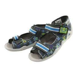 Befado obuwie dziecięce  250P098 niebieskie szare wielokolorowe zielone 3