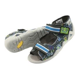 Befado obuwie dziecięce  250P098 niebieskie szare wielokolorowe zielone 4