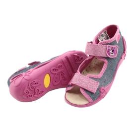 Befado żółte obuwie dziecięce 342P017 różowe szare 4