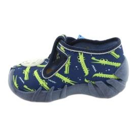 Befado obuwie dziecięce 110P410 granatowe zielone 2