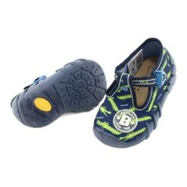 Befado obuwie dziecięce 110P410 granatowe zielone 4