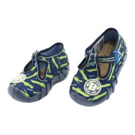Befado obuwie dziecięce 110P410 granatowe zielone 3