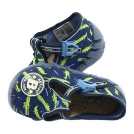 Befado obuwie dziecięce 110P410 granatowe zielone 5