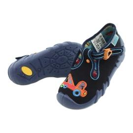 Befado obuwie dziecięce 110P389 granatowe pomarańczowe 3