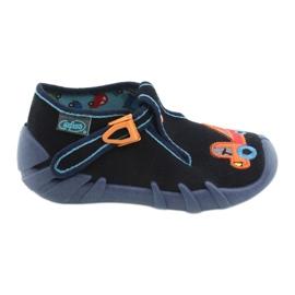 Befado obuwie dziecięce 110P389 granatowe pomarańczowe 1