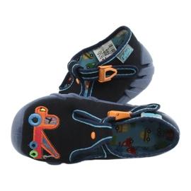 Befado obuwie dziecięce 110P389 granatowe pomarańczowe 4