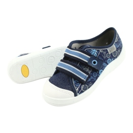 Befado obuwie dziecięce 672X073 granatowe niebieskie wielokolorowe 4