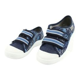 Befado obuwie dziecięce 672X073 granatowe niebieskie wielokolorowe 3