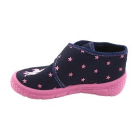 Befado obuwie dziecięce 538P015 granatowe różowe wielokolorowe 2